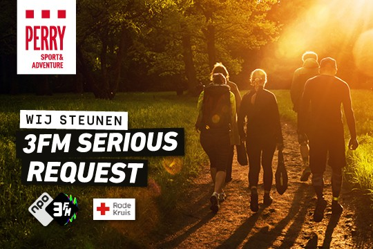 Perry loopt voor 3FM Serious Request
